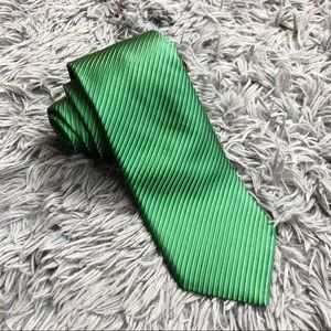 Nordstrom Emerald Green Striped Silk Tie